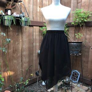 BCBGENERATION Black Handkerchief Cut Mini Skirt 🖤